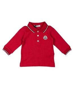 MONCLER BABY BOYS LONG SLEEVE POLO