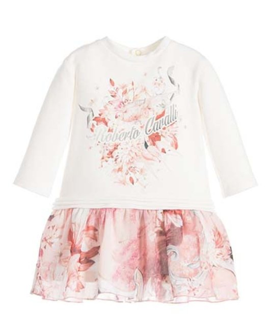 ROBERTO CAVALLI ROBERTO CAVALLI BABY GIRLS DRESS & LEGGING SET