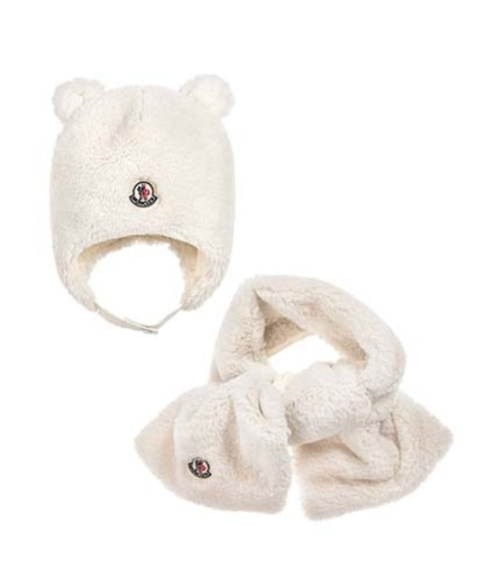fe3685502 MONCLER BABY HAT & SCARF SET