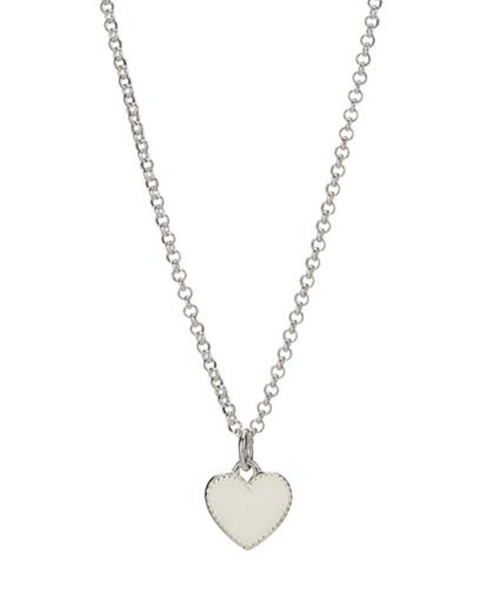 MOLLY BROWN LONDON MOLLY BROWN LONDON WHITE ENAMEL HEART NECKLACE