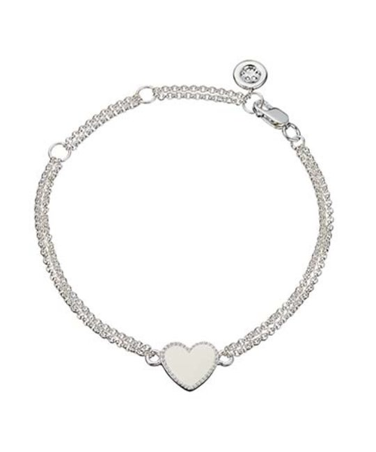 MOLLY BROWN LONDON MOLLY BROWN LONDON WHITE ENAMEL HEART BRACELET