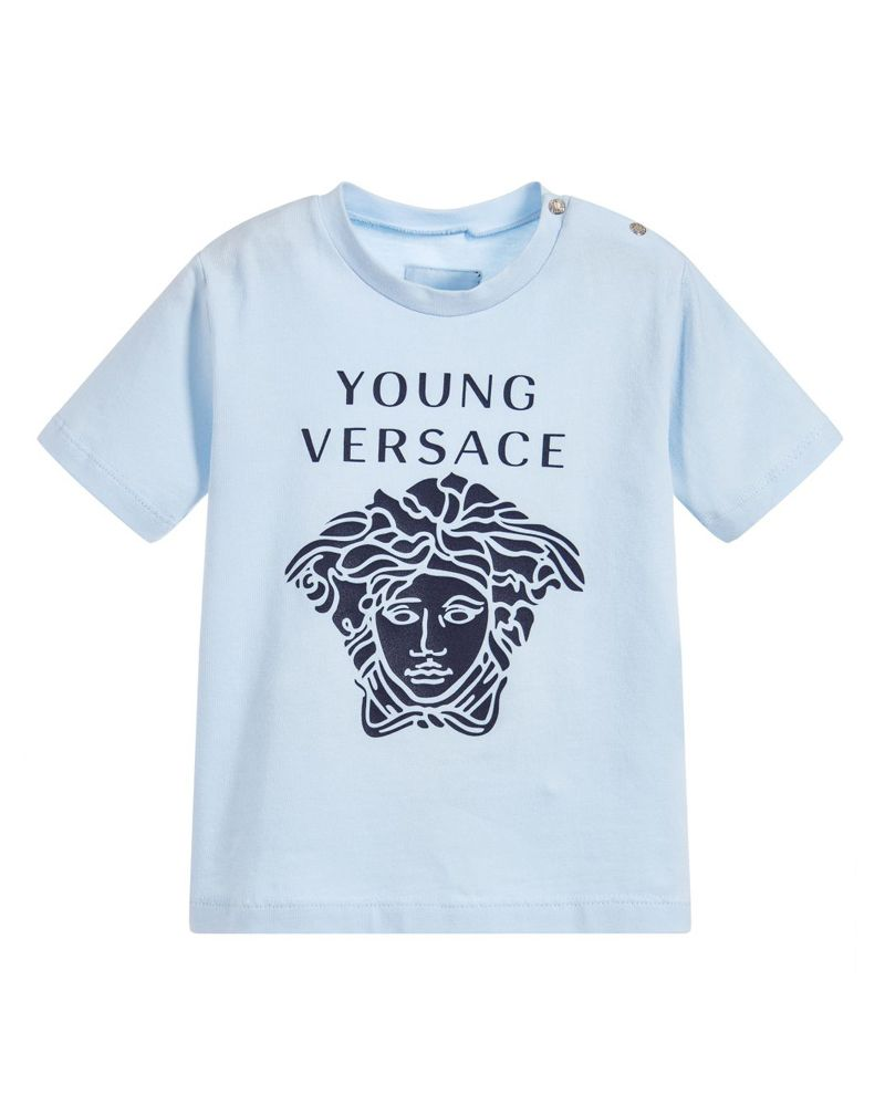 3b1af0d9bf56 YOUNG VERSACE YOUNG VERSACE BABY BOYS TEE SHIRT - Designer Kids Wear