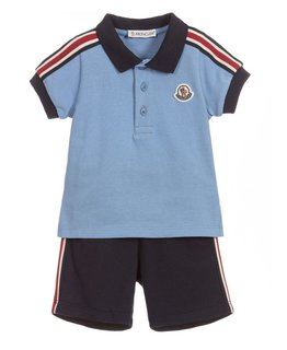 MONCLER BABY BOYS POLO & SHORT SET