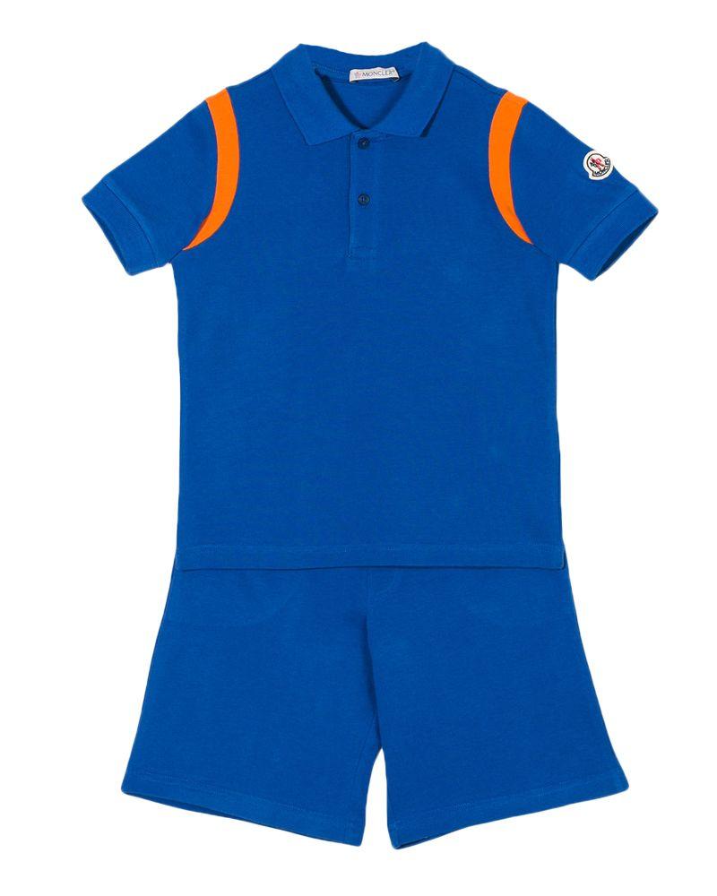 0621179d2aeb MONCLER MONCLER BOYS POLO   SHORT SET - Designer Kids Wear