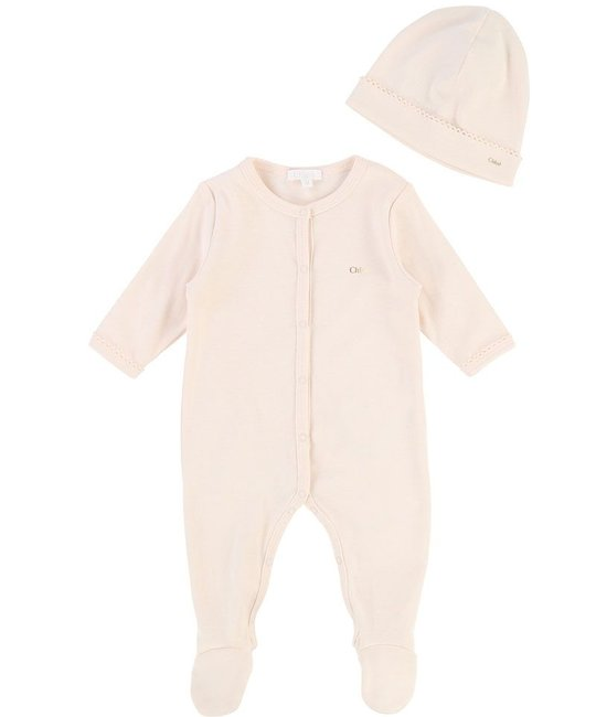 CHLOÉ CHLOÉ BABY GIRLS ONESIE AND HAT GIFT SET