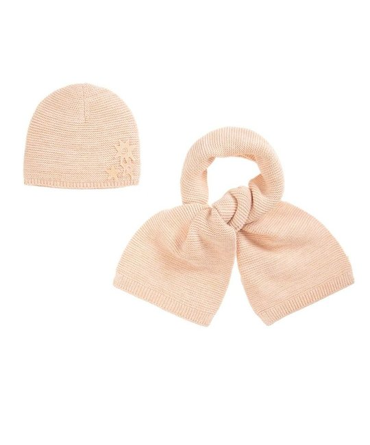 CHLOÉ CHLOÉ GIRLS HAT & SCARF SET