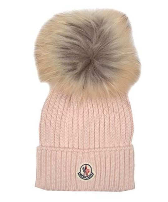 MONCLER MONCLER GIRLS POM-POM HAT - Designer Kids Wear c0cd4c09762