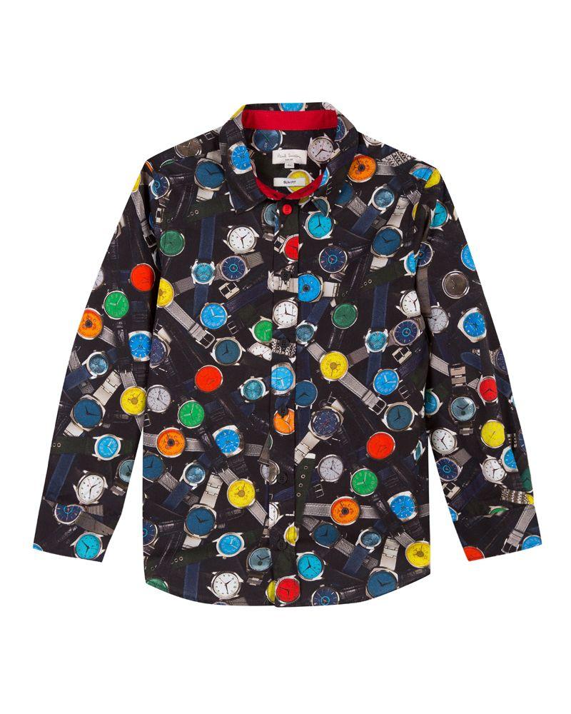 371651294588 PAUL SMITH JUNIOR PAUL SMITH JUNIOR BOYS SHIRT - Designer Kids Wear