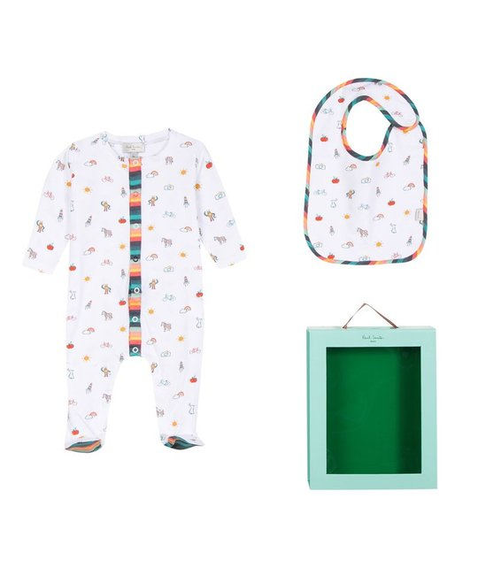 PAUL SMITH JUNIOR PAUL SMITH JUNIOR BABY BOYS GIFT SET