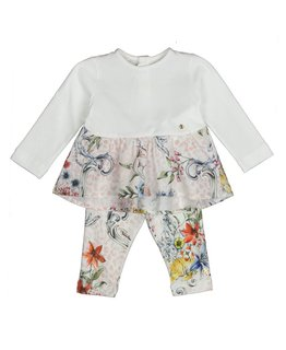 ROBERTO CAVALLI BABY GIRLS TOP & LEGGING SET
