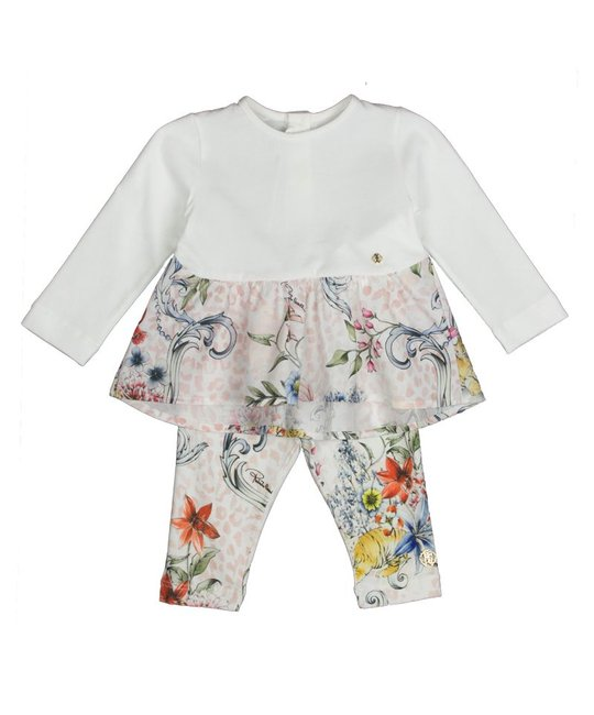 ROBERTO CAVALLI ROBERTO CAVALLI BABY GIRLS TOP & LEGGING SET