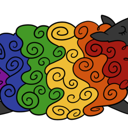 Rainbow Sheepie Enamel Pin