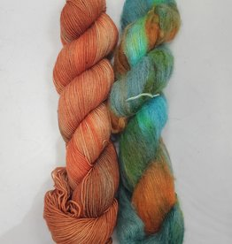 Stitch Together Brioche Cable Scarf Kit Burnt Offering/Fire Swamp
