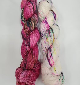 Stitch Together Brioche Cable Scarf Kit Bloom/Draculust