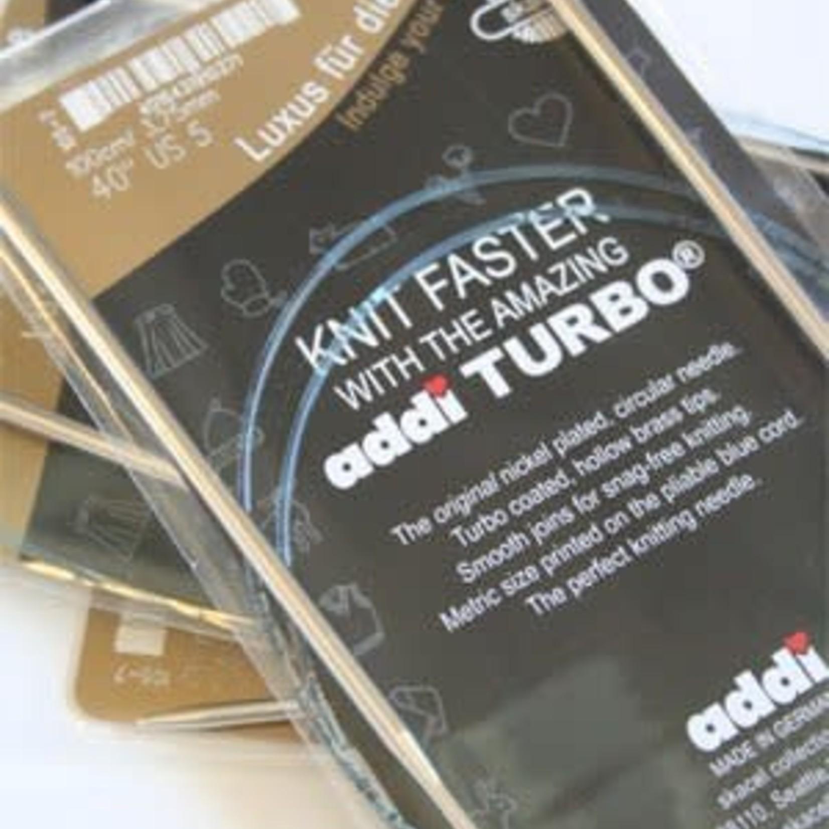 "Addi Circular Turbo 10.5 60"""