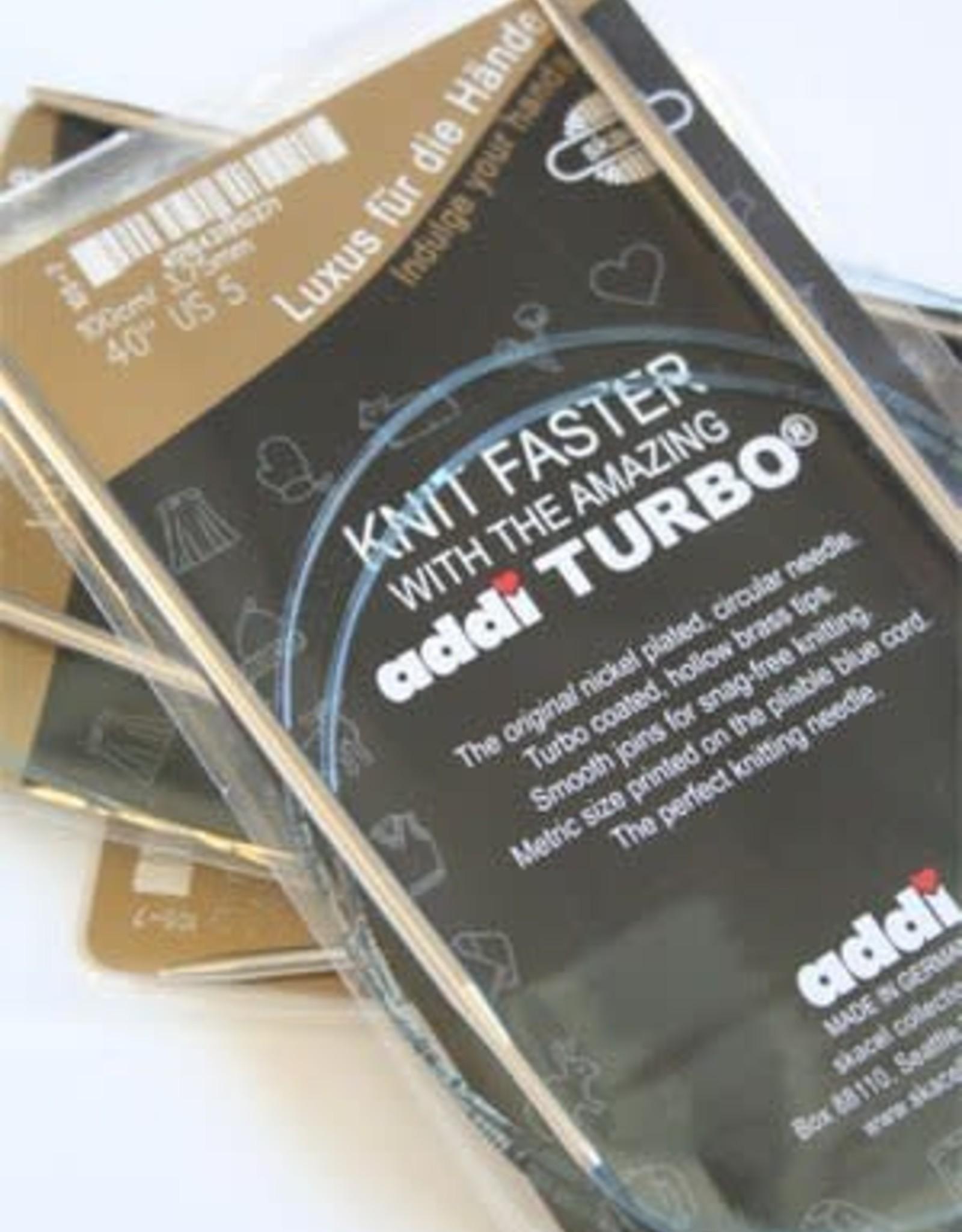 "Addi Circular Turbo 11 40"""