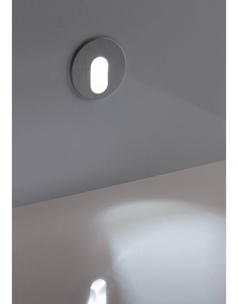 Egoluce Spoon Round Micro Semi-Recessed LED steplight