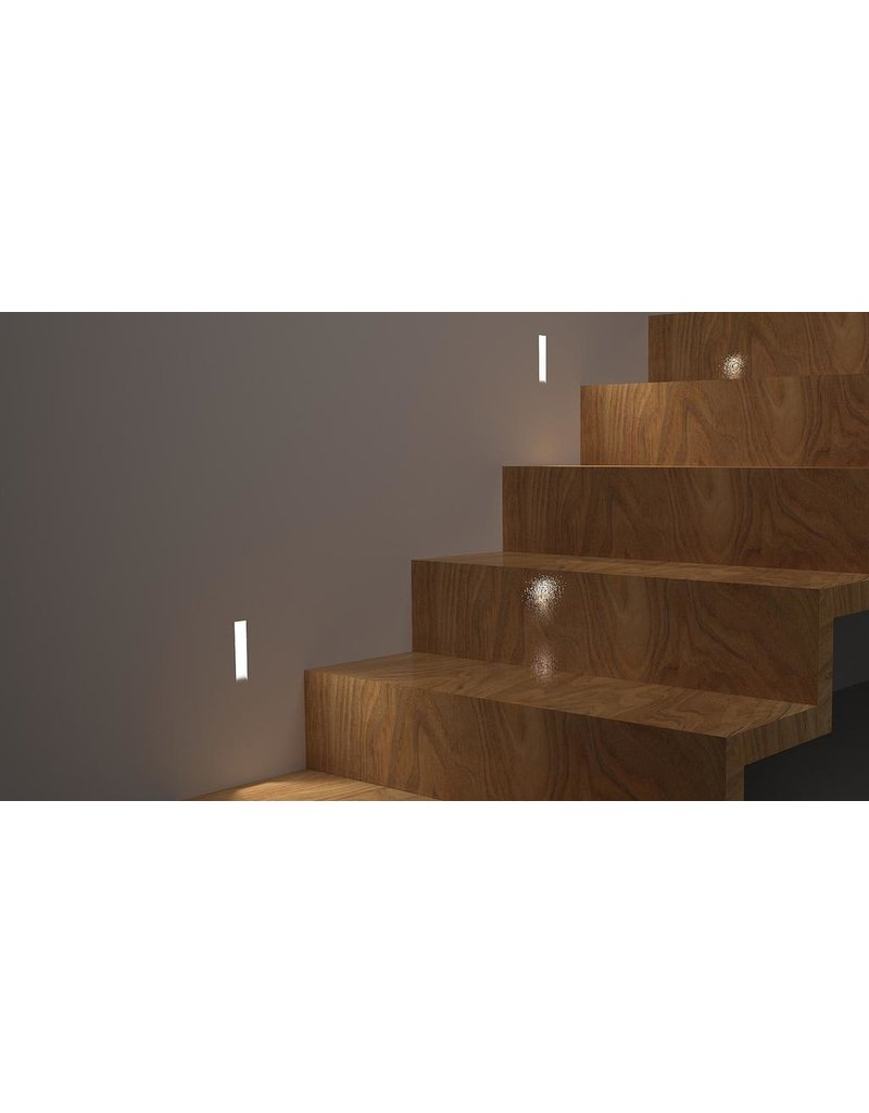 Small Narrow Gypsum Recessed Asymetric Trimless Steplight