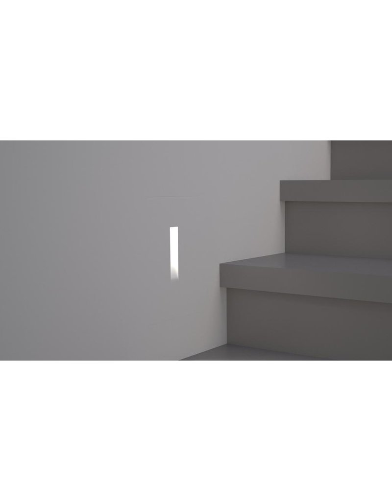 Large Gypsum Recessed Asymetric Trimless Steplight
