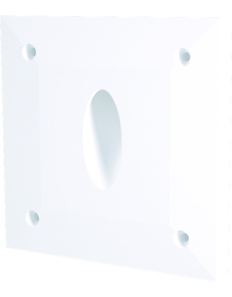 Gypsum Ovale Recessed Asymetric Trimless Steplight