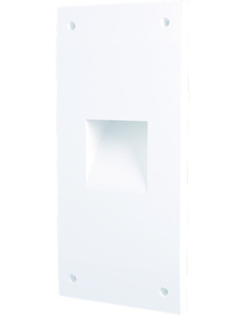 Gypsum Square Recessed Asymetric Trimless Steplight
