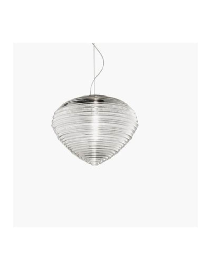 Vistosi Blown glass suspension comes in white, clear crystal or white