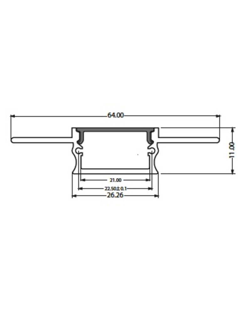 Trimless aluminum recessed channel