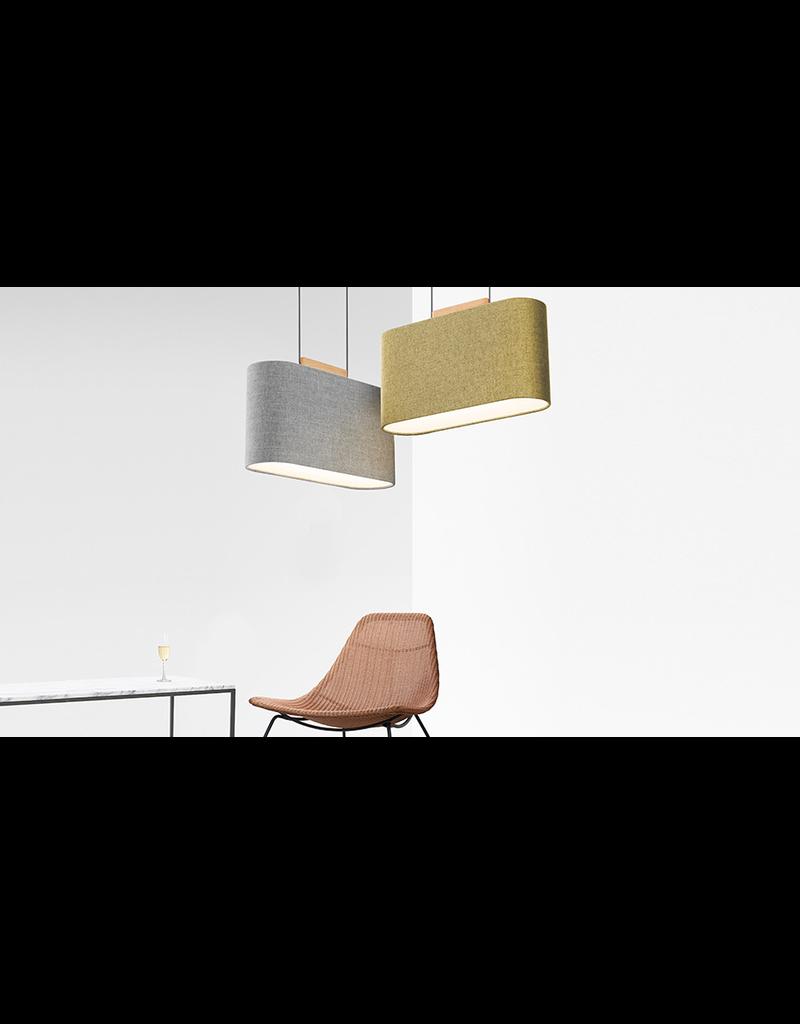 Pablo Belmont Wood & Fabric Shade LED Pendant