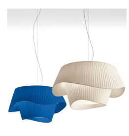 Cocò D100 Pendant Pleated fabric LED 29.3W 2700K 3900lm  Triac Dim