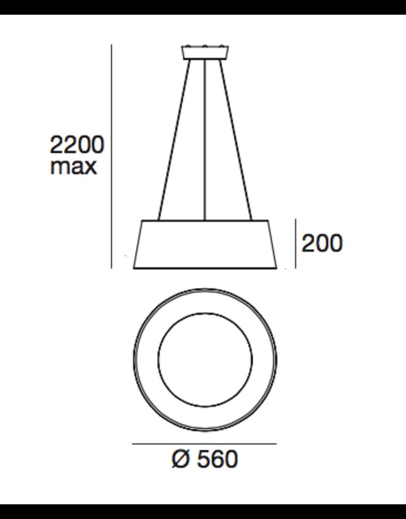 Linea Ma & De Oxygen LED lampshade Pendant