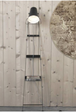 Karman Alfred Floor Lamp and Shelf Black