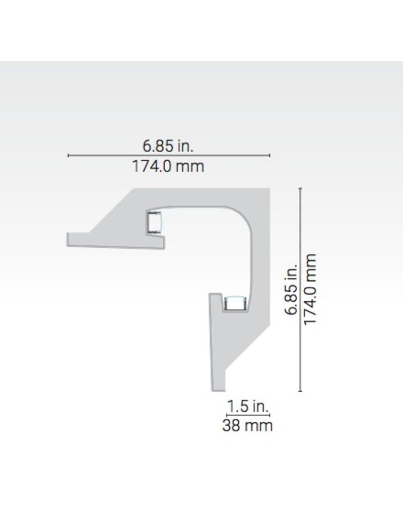 Geminus Linear Plaster-in Corner Moulding