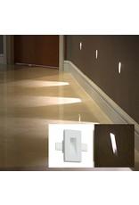 Linea Gypsum Recessed Asymetric Trimless Steplight