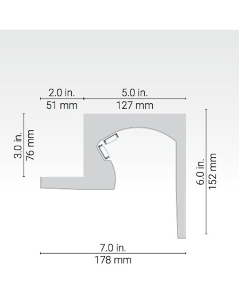 Nidus Linear Plaster-in Corner Moulding