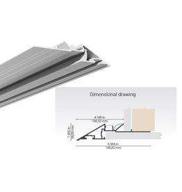 Lumentruss Knife Edge Linear Aluminium Plaster-in Extrusion
