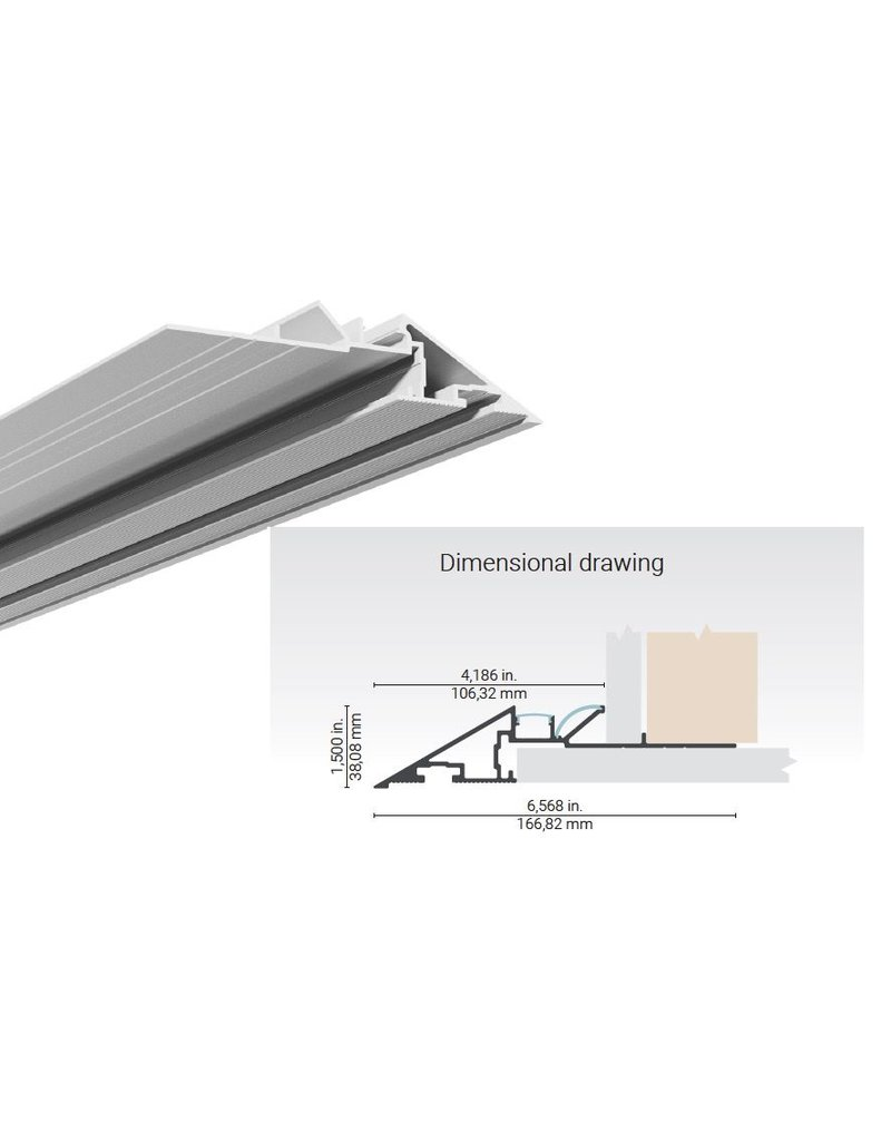 Lumentruss Knife Edge Linear Aluminium Plaster-in Extrusion