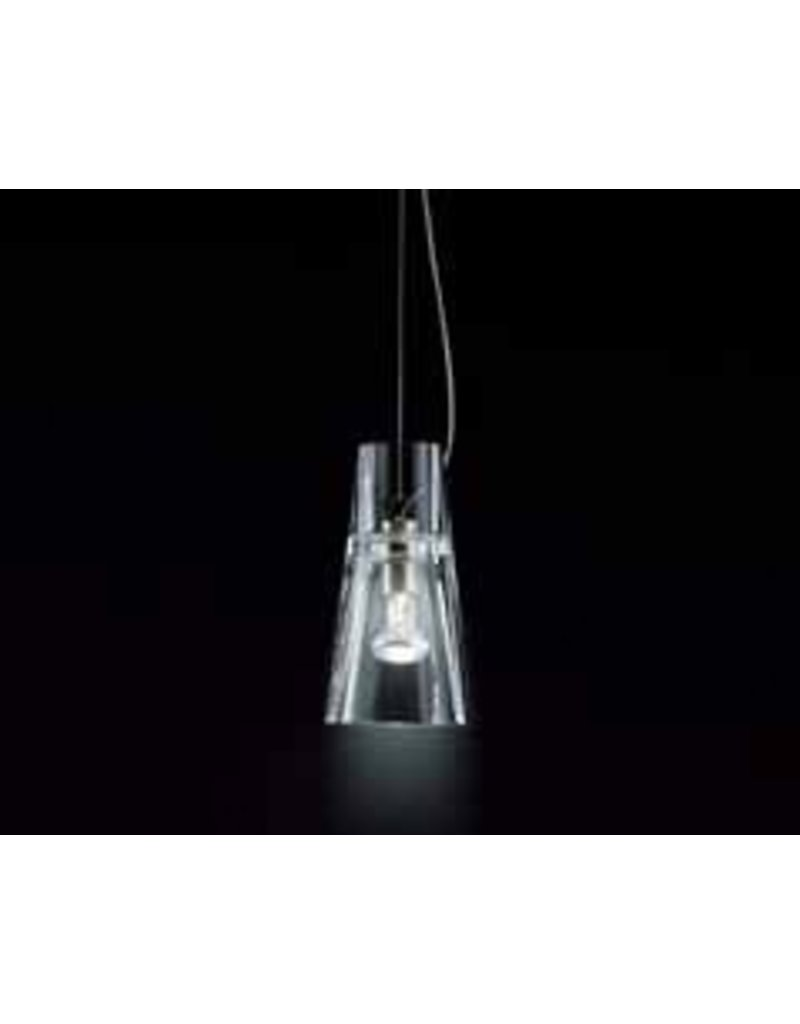 Leucos Kon clear glass & metal pendant