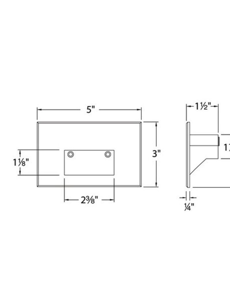 WAC Lighting LEDme Horizontal Scoop Recessed Steplight