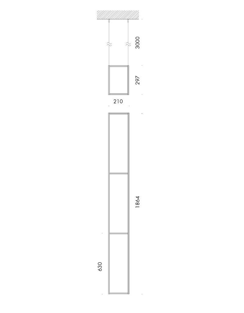 Viabizzuno 13° Angolo Structural Pendant