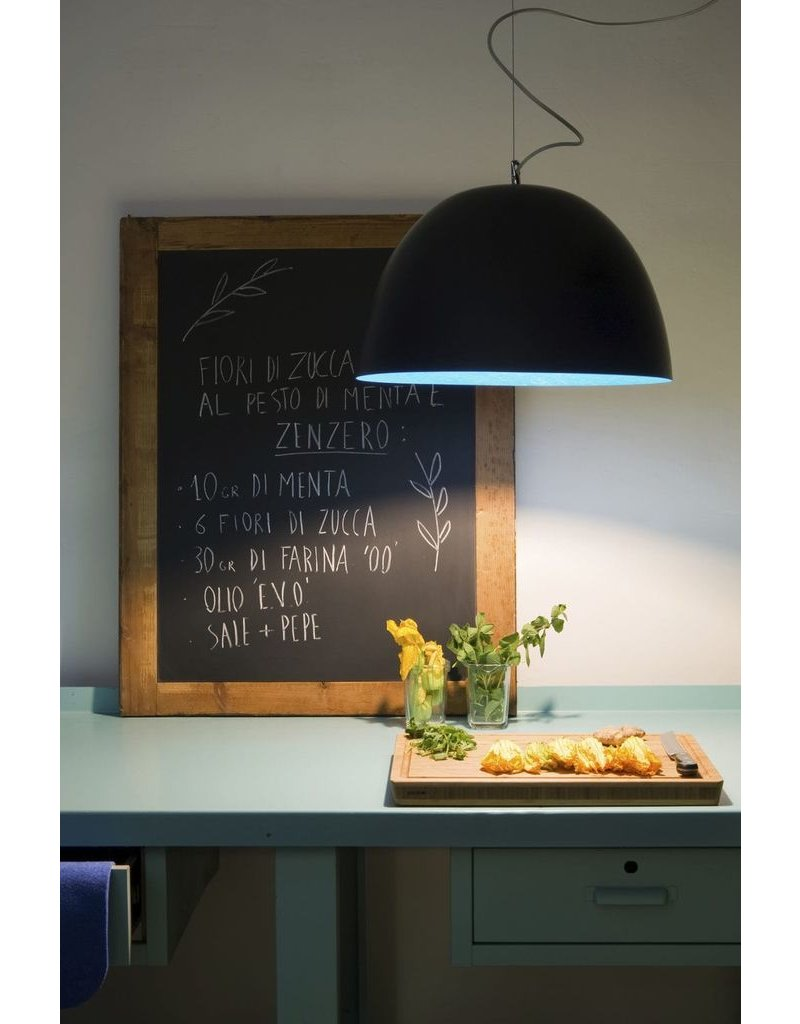 In-es.artdesign H2O lavagna Metal Blackboard Dome Pendant