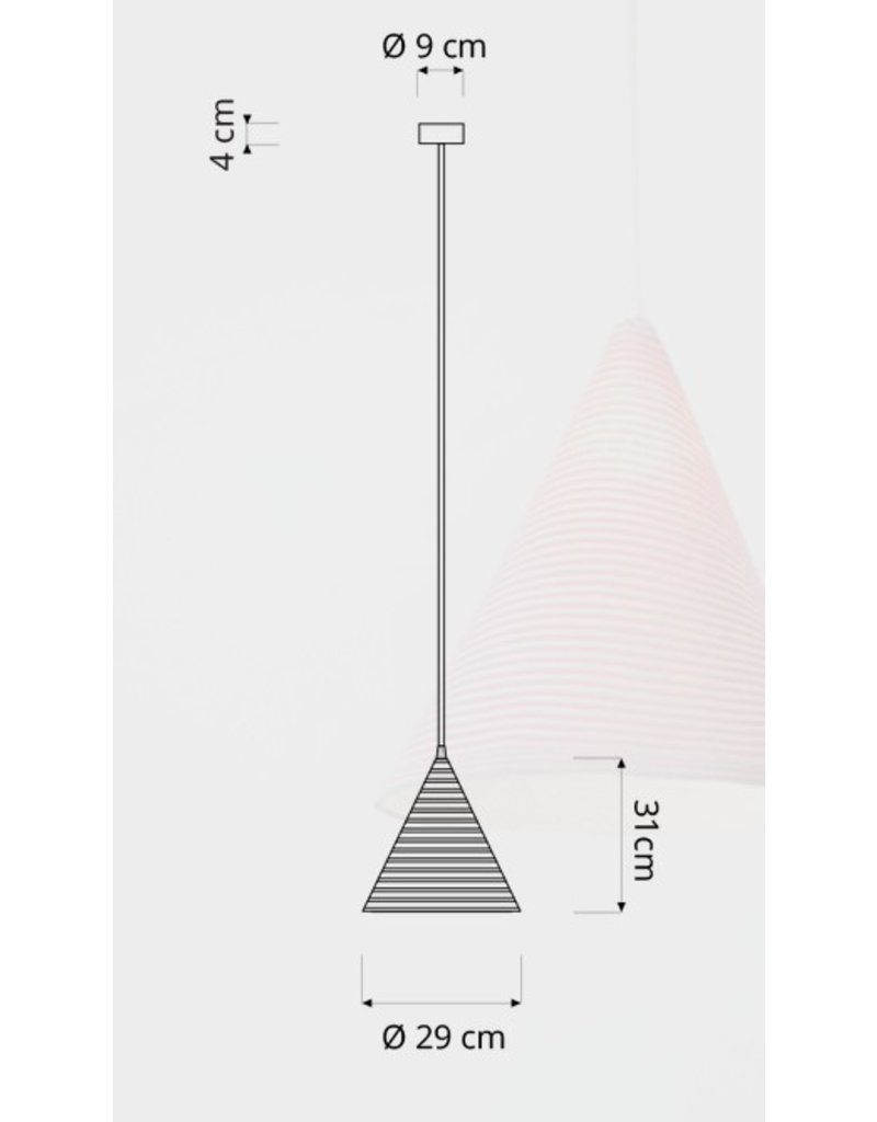 In-es.artdesign Jazz Stripe Cone Pendant