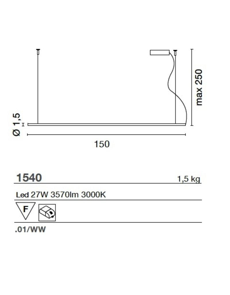 Egoluce Lancia Linear Cable pendant