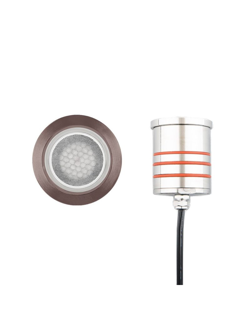 WAC Lighting Round Infloor Recessed Uplight