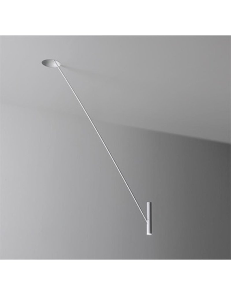 Semi recessed trimless ceiling pendant for reading