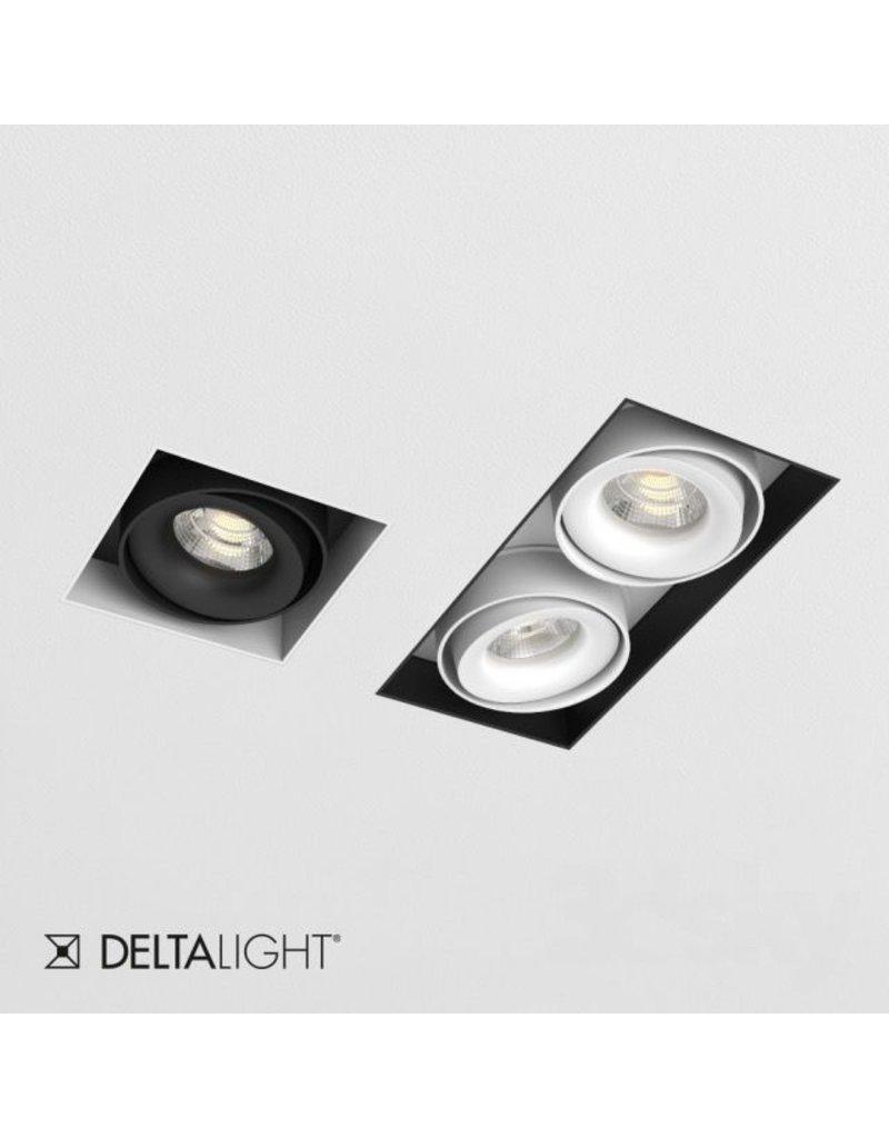 Delta Light Dual Square recessed Snap-in Adjustable Downlight