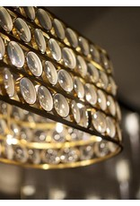 Viabizzuno Da Ma Lens Glass LED Chandelier