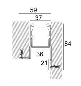 Delta Light Microline TRW+ Recessed Glarefree Trimless Corner Profile