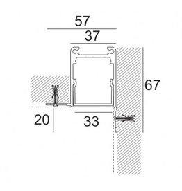 Delta Light Microline TRW Recessed Trimless Corner Profile