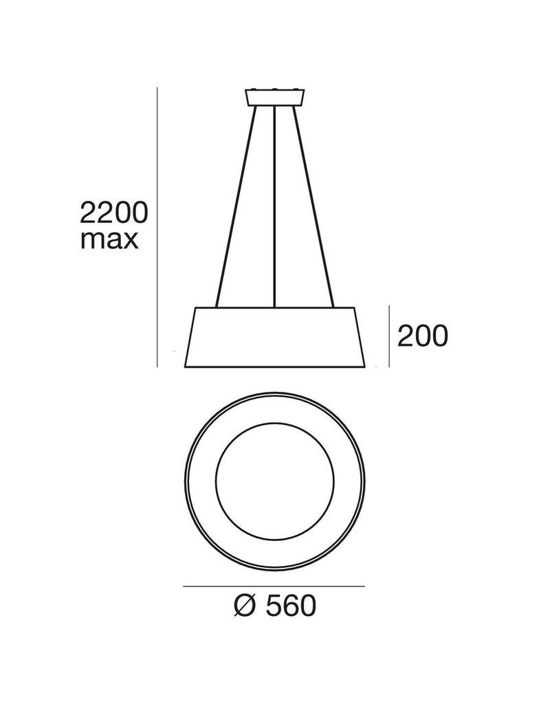 Linea Oxygen P Large Acrylic Double Emission Pendant