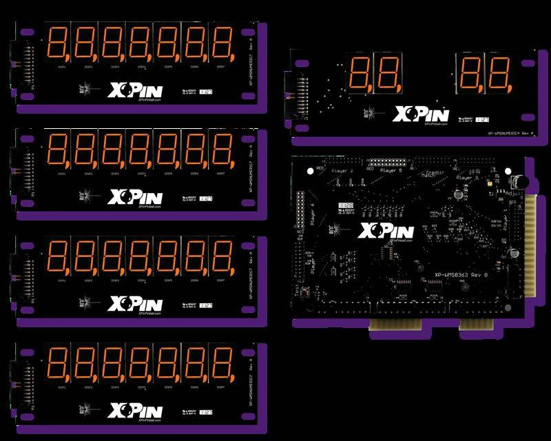 Williams 7-Digit Display XP-WMS8363